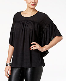 Style & Co Flutter-Sleeve Poncho Top, Created for Macy's