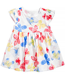 First Impressions Butterfly-Print Cotton Tunic, Baby Girls, Created by Macy's