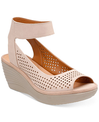 Clarks Collection Women S Reedly Salene Wedge Sandals
