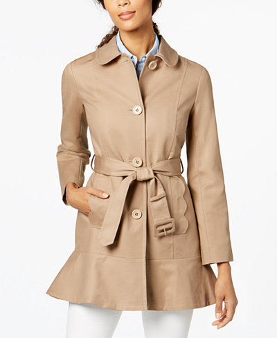 Kate Spade New York Flared Trench Coat