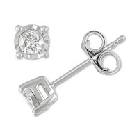 Macys deals on Macys Diamond Stud Earrings 1/5 ct. t.w. 14k Gold