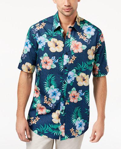 Club Room Men's Hibiscus-Print Shirt, Created for Macy's