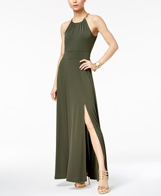 MICHAEL Michael Kors Chain-Embellished Maxi Dress