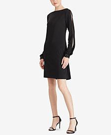 American Living Embellished Bishop-Sleeve Dress
