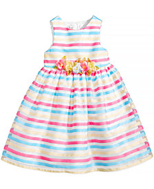 Marmellata Striped Party Dress, Baby Girls