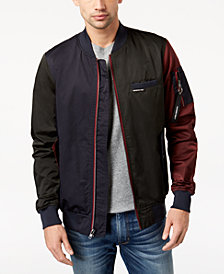 Members Only Men's Colorblocked Bomber Jacket
