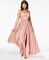 60f3796abc63 City Studios Juniors' Embellished Illusion Tulip Gown, Created for Macy's