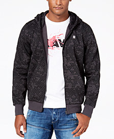 G-Star RAW Men's Honeycomb Printed Full-Zip Hoodie