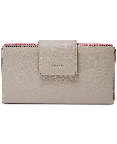f1f8b408b30e Fossil Emma RFID Tab Leather Wallet & Reviews - Handbags ...