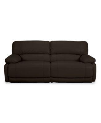 Nina Leather Dual Power Reclining Sofa