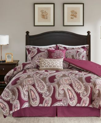 Padma Paisley 6-Pc. Full Comforter Set