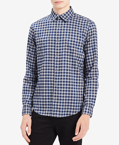 Calvin Klein Jeans Men's Heathered Check Shirt