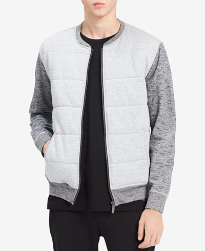 Calvin Klein Jeans Men's Colorblocked Quilted Bomber Jacket
