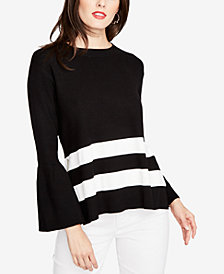 RACHEL Rachel Roy Bell-Sleeve Tie-Back Sweater, Created for Macy's
