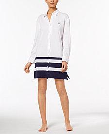 Lauren Ralph Lauren Fashion Knits Cotton Colorblock Sleepshirt