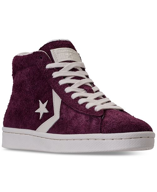 ... Converse Men s Pro Leather 76 High Top Casual Sneakers from Finish ... 3c3fc7537