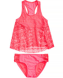 Summer Crush 2-Pc. Crochet Tankini Swimsuit, Big Girls