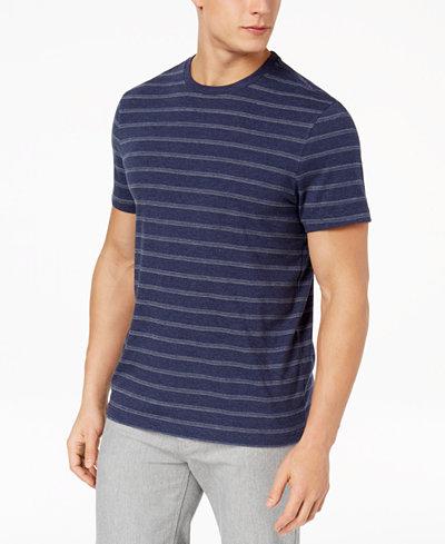 Club Room Men's Birdseye Stripe T-Shirt, Created for Macy's