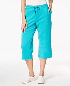 Karen Scott Drawstring Capri Pants, Created for Macy's