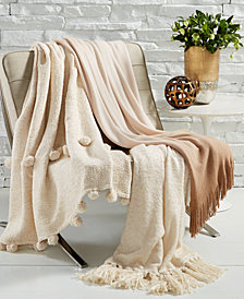 LAST ACT! Lacourte Metallic Throw Collection, Created for Macy's