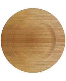 Jay Import Brown Faux Wood Charger Plate