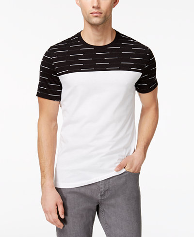 Alfani Men's Graded Striped T-Shirt, Created for Macy's