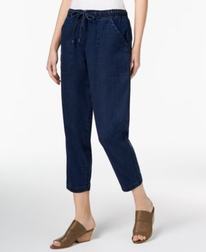 Eileen Fisher Tencel Cropped Pull-On Jeans, Regular & Petite 5408026
