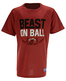 Under Armour Miami Heat Combine Beast on Ball T-Shirt, Big Boys (8-20)