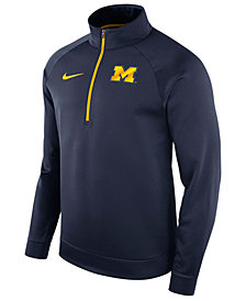 Nike Men's Michigan Wolverines Hypercolor Logo Quarter-Zip Pullover