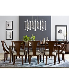 Portland Expandable Dining 9-Pc. Set (Dining Table & 8 Side Chairs), Created for Macy's