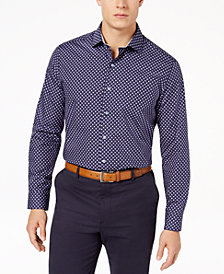 Tasso Elba Men's Supima® Cotton Geo-Print Shirt, Created for Macy's