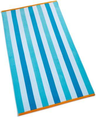 Cabana Cotton Stripe Beach Towel, Created for Macy's