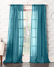 "Silvia 50"" x 63"" Crushed Semi-Sheer Curtain Panel"