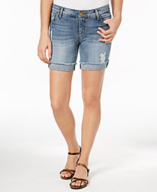 Kut from the Kloth Catherine Ripped Boyfriend Shorts