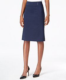 JM Collection Rivet-Waist A-Line Skirt, Created for Macy's
