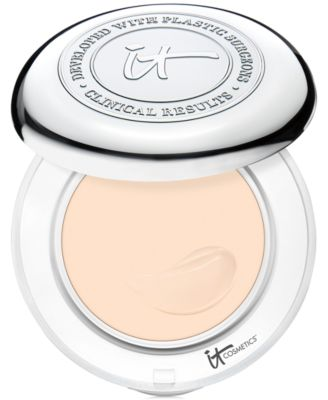 Confidence In A Compact Solid Serum Foundation with SPF 50+