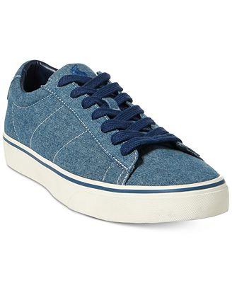 Polo Ralph Lauren Mens Sayer Low-Top Sneakers
