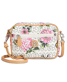 Giani Bernini Block Signature Convertible Camera Fanny Pack, Created for Macy's