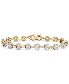 Diamond Halo Link Bracelet (2 ct. t.w.) in 14k Gold