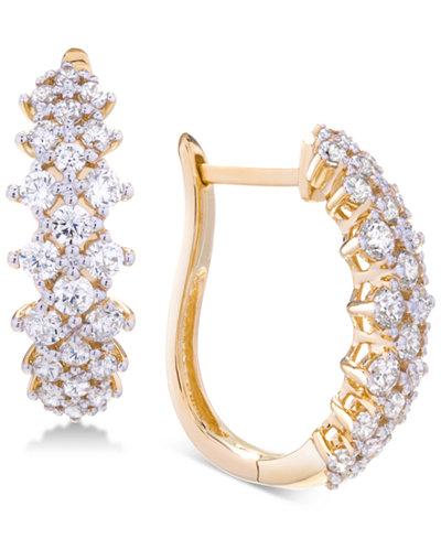 Wrapped in Love™ Diamond Hoop Earrings (2 ct. t.w.) in 14k Gold, Created for Macy's
