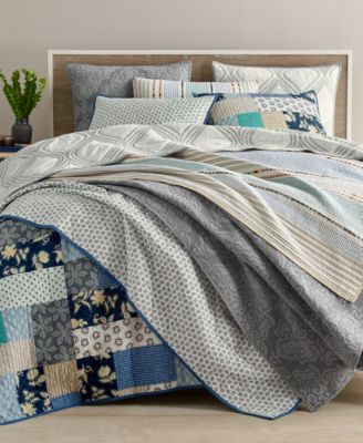 Martha Stewart Collection Gramercy Gate Reversible Full/Queen ... : macys bedding quilts - Adamdwight.com