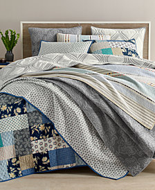 Martha Stewart Collection Globe Trotter Cotton Quilt and Sham Collection, Created for Macy's