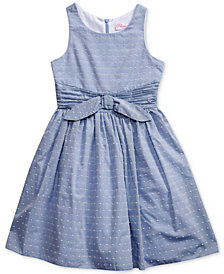 Bloome Pleated-Waist Chambray Dress, Big Girls