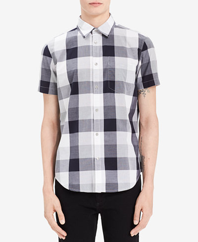 Calvin Klein Jeans Men's Lightweight Plaid Shirt