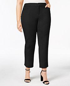 Charter Club Plus Size Tummy Control Slim-Leg Pants, Created for Macy's