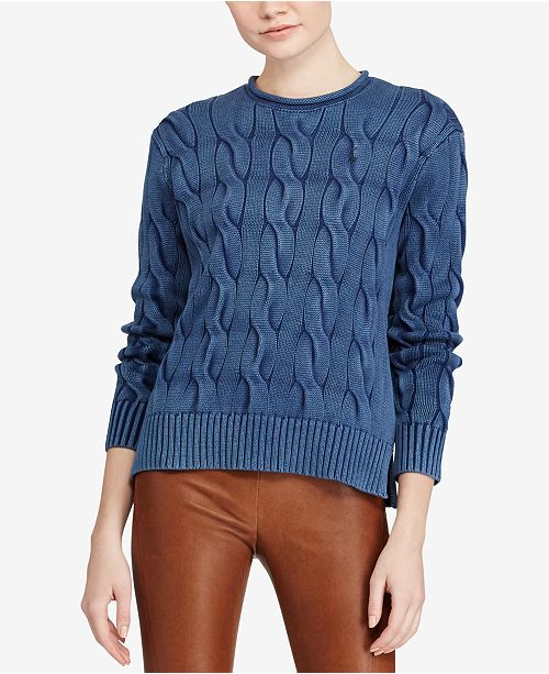 7f37fe13c37c Polo Ralph Lauren Cable-Knit Cotton Sweater   Reviews - Sweaters ...