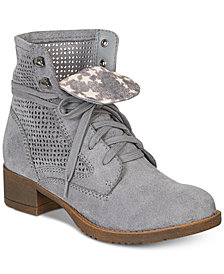 American Rag Ramona Lace-Up Combat Boots, Created For Macy's
