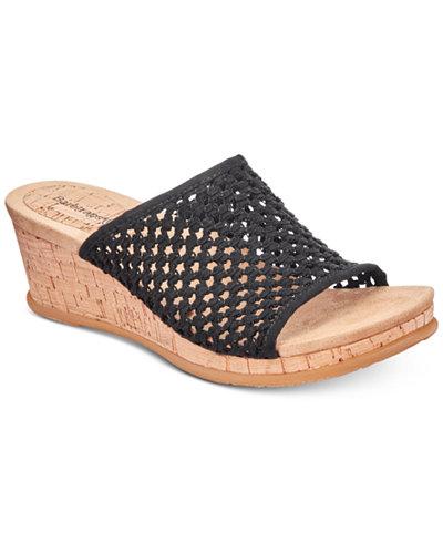 Bare Traps Flossey Slip-On Wedge Sandals
