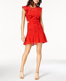 Bardot Kira Cutout Ruffled Fit & Flare Dress