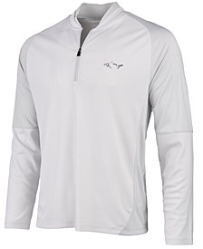 Greg Norman for Tasso Elba Men's Jacquard Quarter-Zip Sweater, Created for Macy's